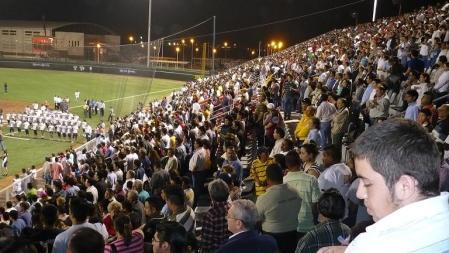 Tribunas del Estadio durante la inauguracion 2008.