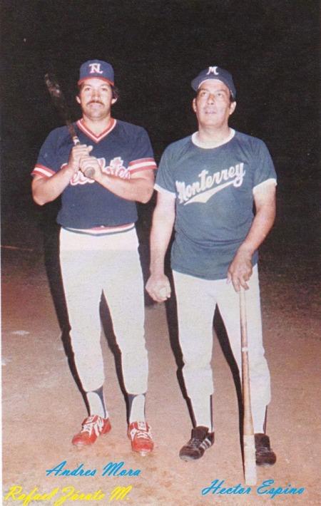 Andres Mora y Hector Espino en 1984.