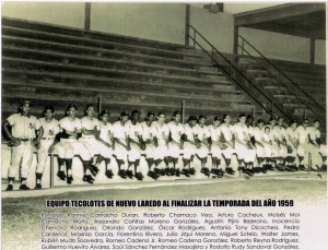 Equipo Tecolotes de 1959 en el Parque La Junta.